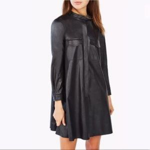 BCBGMaxazria Emilee long sleeved faux leather over